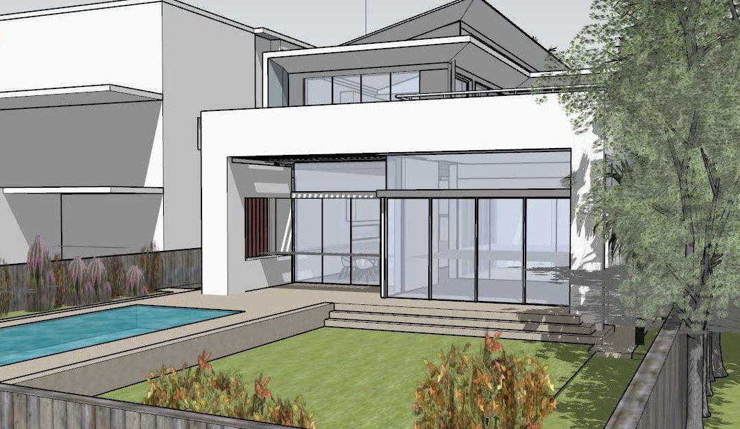 My designs for a house in Rose Bay, about to be submitted to the council